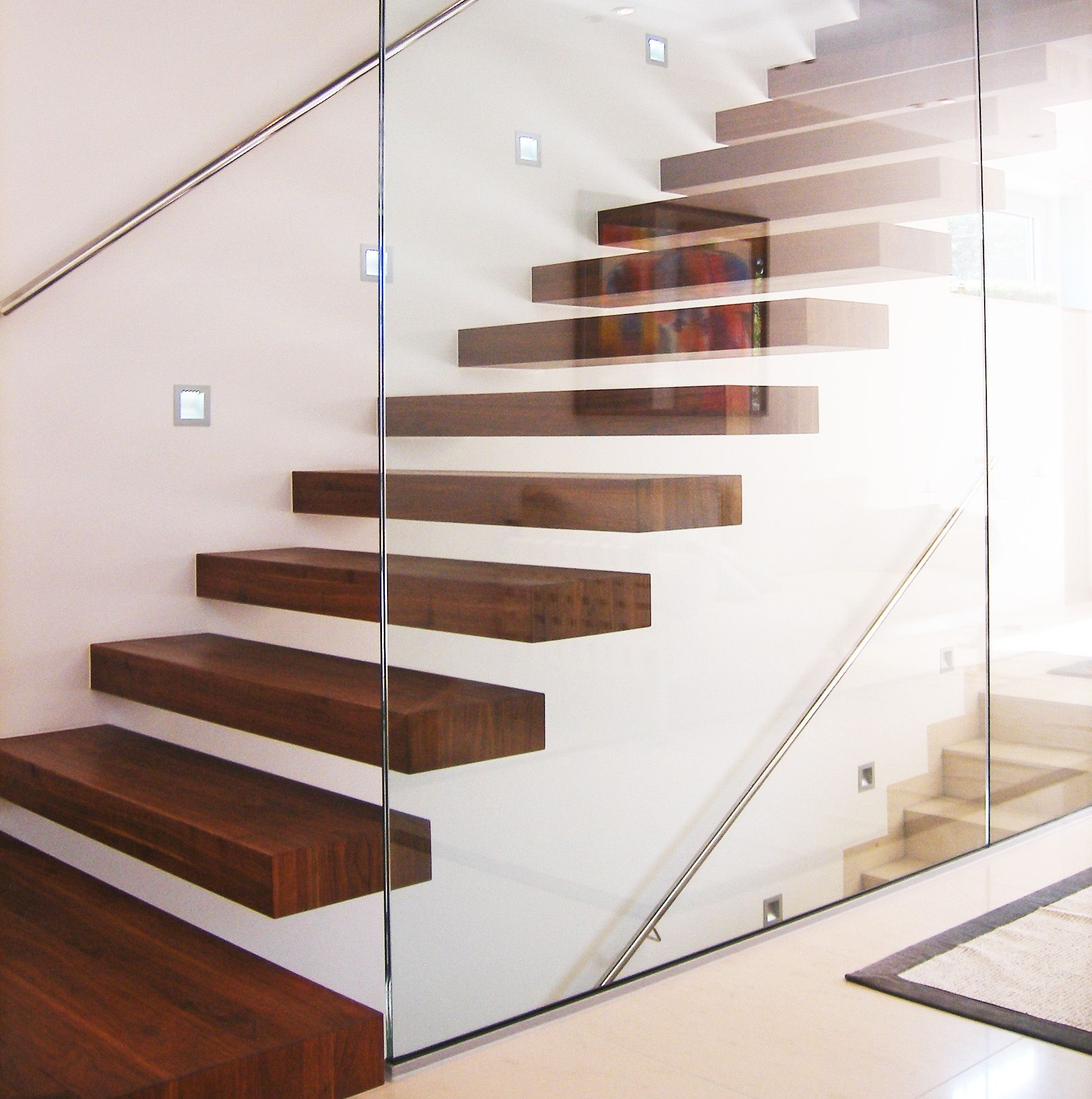 treppe aus edlem holz inneneinrichtung f r stuttgart. Black Bedroom Furniture Sets. Home Design Ideas
